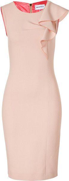 Emilio Pucci Colonial Rose Wool Sheath Dress in Pink (rose)