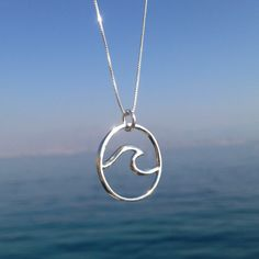 Sterling silver wave necklace, Layer Necklace, Wave necklace, Surf Jewelry, Silver Necklace, Mermaid Jewelry, Gift, Womens Necklace, surfer