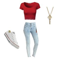 """Untitled #191"" by lovecas ❤ liked on Polyvore featuring Charlotte Russe, The Giving Keys and Converse"
