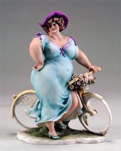 Credits : Emilio Casarotto Fat curvy chubby lady figurine Plus size Art Big And Beautiful, Beautiful Dolls, Belle Tof, Plus Size Art, Jugendstil Design, Fat Art, Art Sculpture, Motif Floral, Paperclay