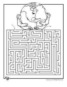 Earth Day free printable worksheets, including mazes and coloring pages, for elementary school students Maze Puzzles, Puzzles For Kids, Free Printable Worksheets, Worksheets For Kids, Earth Day Worksheets, Printables, Earth Day Activities, Activities For Kids, Earth Day Coloring Pages