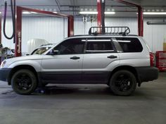 Subaru Forester with a little lift