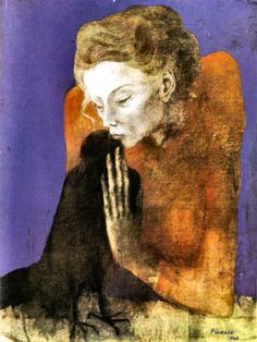 Woman with Crow, 1904  pablo Picasso - Rose Period