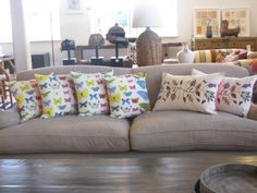 tishrei designs cushions with feather inners now at box of birds