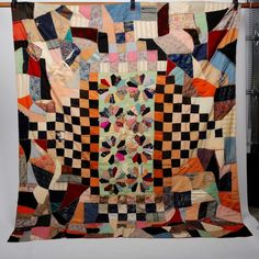 Antique Silk Crazy Quilt for Repair or Repurpose