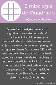 Quadrado Mágico Reiki, Magic Symbols, Book Of Shadows, Witchcraft, Tarot, Study, Positivity, Learning, Books