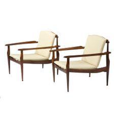 Pair of Lounge Chairs by Joaquim Tenreiro