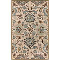 Brentwood Beige Wool  - 6 Ft. x 9 Ft. Area Rug