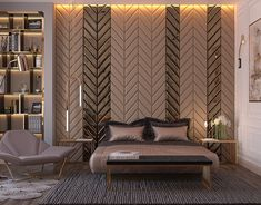 Modern style bedroom *Dubai project on Behance Interior Design Dubai, Best Home Interior Design, Interior Design Living Room, Living Room Designs, Bedroom Bed Design, Modern Bedroom Design, Bedroom Sets, Bedroom Designs, Bedding Sets