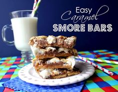 Easy Caramel Smore Bars from @jamiecooksitup