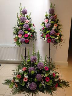 Wedding Flowers, church arrangements.