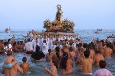 Procesión Virgen de El Carmen (patrona de los pescadores) se celebra el 16 de Julio. MÁLAGA