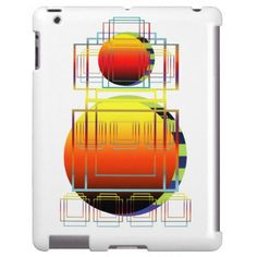 iPad Case | Geometric Abstract Shapes White  #zazzle