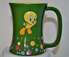 Warner Bros. Looney Tunes 3D Tweety Bird Coffee Mug #TweetyBirdMug #LooneyTunes #Cartoon