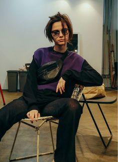 Used Sleeveless Knit / Purple | PERVERZE