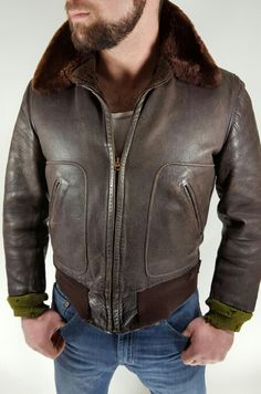 Vtg 40s HERCULES HORSEHIDE Motorcycle Jacket 38 Or M D Pockets. This style is classic awesome that out performs any modern jacket out there.  See more from www.theclothingvault.com