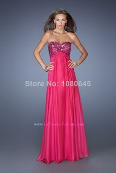 Vestidos De Fiesta Fuschia Green Beads Sweetheart Empire Plus Size Maternity Evening Prom Dresses Gown Chiffon A2338-in Prom Dresses from Ap...