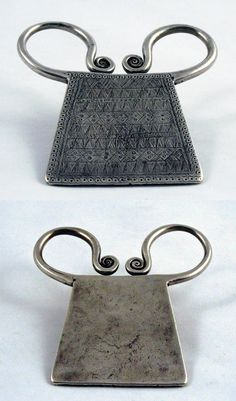 Golden Triangle | Spirit / Soul lock from the Meo people; silver incised with geometric and dotted pattern. 9 x 9 cm | ca. early 20th century | 750S$