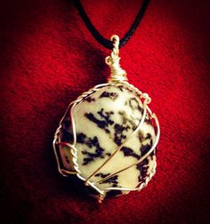 Zebra Stone Wire Wrapped Pendant by QuirkyJewelryShop on Etsy