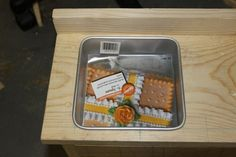 """6"""" square cake pan used for an 18"""" doll kitchen sink cute!"""