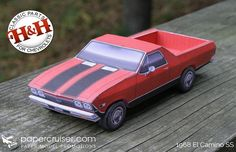 Jesse Smith, aka Paper Cruiser,  the North american designer  of this very nice paper model version  in 1/21 scale  of the classic 1968`s ...