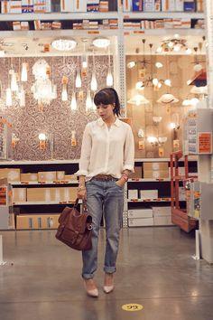 H Boyfriend Jeans