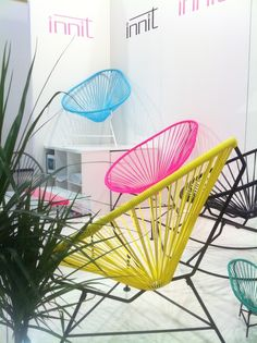 These weird basket chairs look pretty cool -and sort of uncomfortable too...