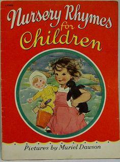 Vintage 1940 book by MURIEL DAWSON 'Nursery Rhymes for Children', via eBay