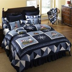 www.homedecoratingcompany.com mm5 graphics 00000001 donna-sharp full-size donna-sharp-lighthouse-tour-bedding.jpg