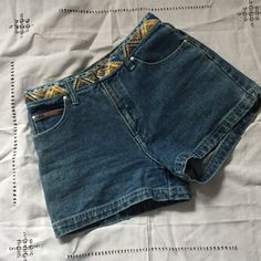 Vintage High Waisted Tribal Shorts The essential item for summer☀️☀️Excellent vintage condition. Size says 7-8 guessing that a juniors size but they look pretty small so more like a 6 than an 8. Not UNIF tagged for exposure😎 UNIF Shorts Jean Shorts