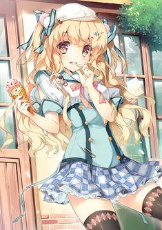 anime blonde girl with ice cream....ok i like you, little moe-chan