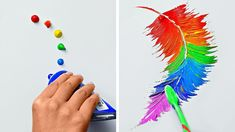 Pinterest Diy Crafts, Art Diy, Colorful Drawings, Simple Art Drawings, 5 Minute Crafts Videos, Hand Art, Diy Canvas Art, Painting Tips, Art Techniques