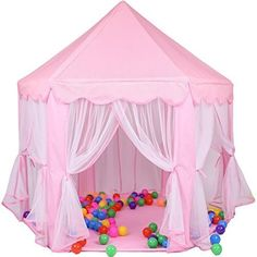 Kid Indoor Princess Castle Play TentPortableFun Outdoor Large Playhouse Gift/Presents For Childs Toddlers(Newest ToysPink)-Balls Not Included Best Price  sc 1 st  Pinterest & Kids Play Tent Toy Indoor Outdoor Castle Children Playhouse ...