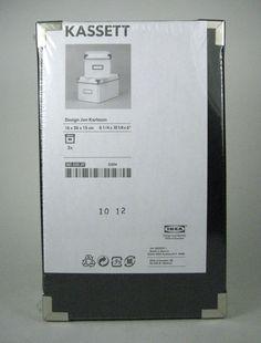 NEW IKEA Kassett CD Storage Box with Lid 2 Pack Black NIP Jon Karlsson Design #IKEA