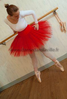 Red Tutu. Pointe Shoes. Barre. Leotard. Ballet. Dancer.