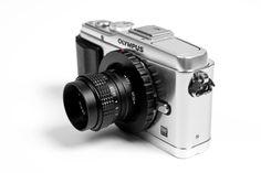 Lo-fi Micro 4/3 Camera Lens - A manual focus lens to give your digital photos creative edge. ($90.00, http://photojojo.com/store)