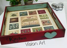 Paisley Art, Vision Art, Napkin Decoupage, Mosaic Crafts, Scrapbook Albums, Wooden Boxes, Painting On Wood, Stencils, Tray