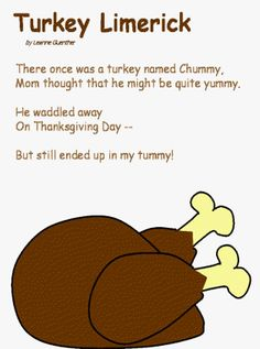 thanksgiving limerick and coloring page for kids - 30 Limerick Examples Funny Cooperative