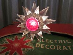 Matchless Wonder Star Christmas Bulb DOUBLE Glass Vintage 1930's bakelite C6 #25 Star Christmas Lights, Vintage Christmas Lights, Christmas Light Bulbs, Double Glass, Vintage Lighting, Cut Glass, 1930s, Ebay, Christmas Bulbs