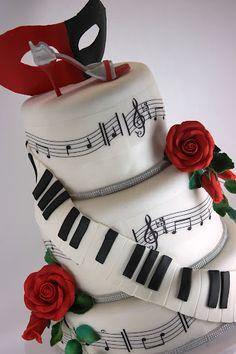 viorica's cakes: Tort nunta In pasi de tango Beautiful Cakes, Amazing Cakes, Special Birthday Cakes, Happy Birthday, Music Cakes, Incredible Edibles, Edible Cake, Cakes And More, Cupcake Cakes