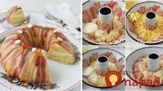 Tip na perfektné predjedlo z formy na bábovku: Slaný veniec pripravíte jednoducho a bude ozdobou veľkonočného stola! Doughnut, Ham, Cheesecake, Food And Drink, Menu, Potatoes, Easter, Salad, Treats