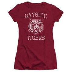 Behold the Saved by the Bell - Go Tiger Junior T-Shirt. Now you can be part of the hype with this cardinal colored, officially licensed junior t-shirt made of 100% pre-shrunk cotton. This junior t-shi