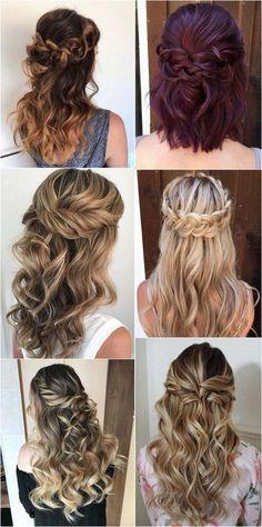 half up half down wedding hairstyles #bridalfashion #hairstyles #weddinghairstyles #weddingideas