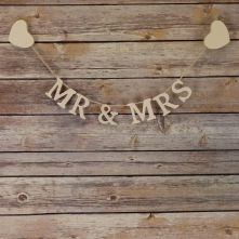 Mrs and Mrs Wooden Letter Garland