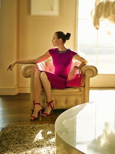 Ted Baker AW14 - Fuchsia dress