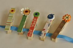 Decorative Clothes Pins  @yourhomebasedmom.com  #campcrafts, #crafts