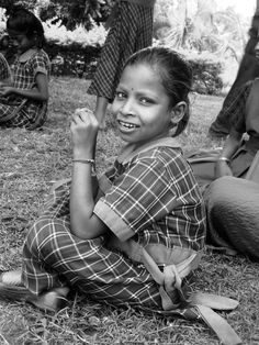 By me. India, Bangalore 2013. Sneha AIDS orphanage. School girl.