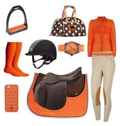 """orange"" by ridingoutfits ❤ liked on Polyvore featuring Lauren Ralph Lauren, Chooze, Calvin Klein, NIKE and Tory Burch"