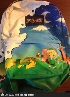A friend painted her backpack.