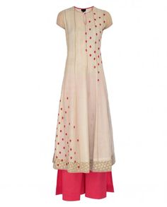 Embroidered Ivory Palazzo Suit